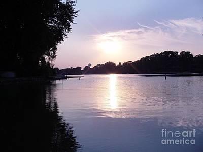 Photograph - Island Lake Sunset by Deborah Finley