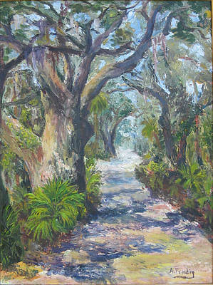 Island Lane Art Print by Albert Fendig