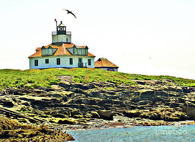 Photograph - Island Lighthouse 2 by Raymond Earley