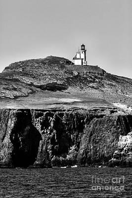 Artwork Photograph - Island Lighthouse by David Millenheft