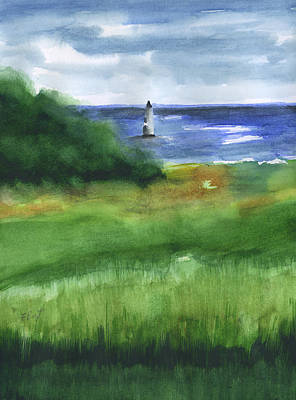 Painting - Cockspur Island Lighthouse by Frank Bright