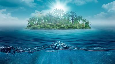 Landscapes Digital Art - Island by Maye Loeser