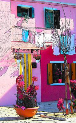 Photograph - Island Of Burano Houses - The Washing Line by Jan Matson