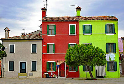 Island Of Burano Tranquility Art Print by Richard Rosenshein