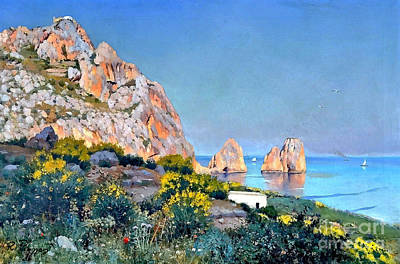 Painting - Island Of Capri - Gulf Of Naples by Rosario Piazza