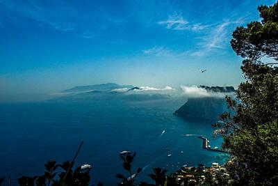 Photograph - Island Of Capri Seaside Cliffs by Marilyn Burton