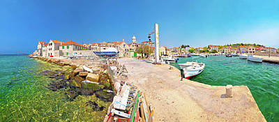 Photograph - Island Of Prvic Harbor Panorama In Sepurine by Brch Photography