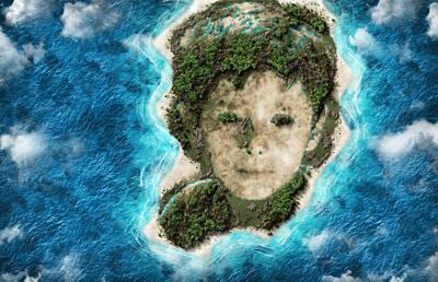 Asar Studios Painting - Island Of Red Hair Boy by Asar Studios