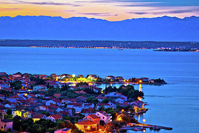 Photograph - Island Of Ugljan Evening Aerial Panorama by Brch Photography