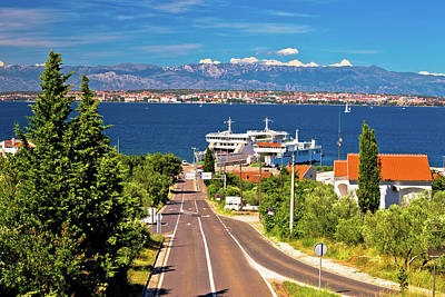 Photograph - Island Of Ugljan Ferry Port And Zadar View by Brch Photography