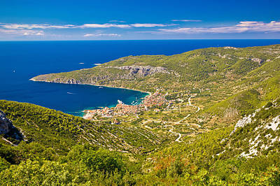 Photograph - Island Of Vis Archipelago Aerial View by Brch Photography