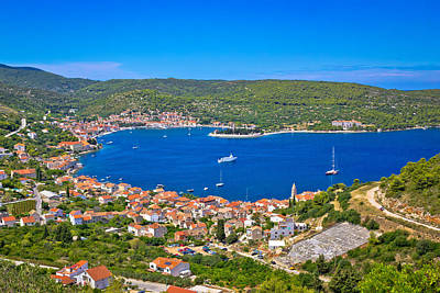 Photograph - Island Of Vis Bay Aerial View by Brch Photography