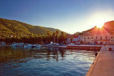 Photograph - Island Of Vis Harbor At Sunset View by Brch Photography