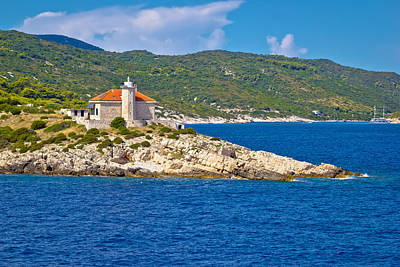 Photograph - Island Of Vis Lighthouse View by Brch Photography