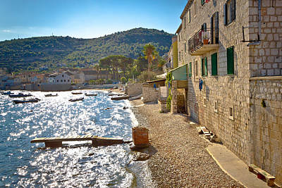 Photograph - Island Of Vis Mediterranean Waterfront by Brch Photography