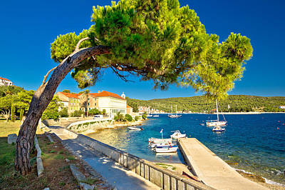 Photograph - Island Of Vis Seafront Walkway View by Brch Photography