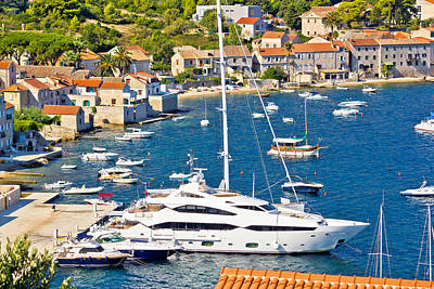 Photograph - Island Of Vis Yachting Waterfront by Brch Photography