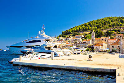 Photograph - Island Of Vis Yachting Waterfront View by Brch Photography