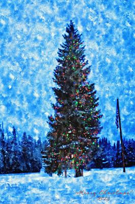 Island Park Christmas Print by Image Takers Photography LLC - Laura Morgan