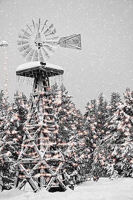 Island Park Idaho - Lakeside Lodge Windmill Art Print by Image Takers Photography LLC - Carol Haddon and Laura Morgan