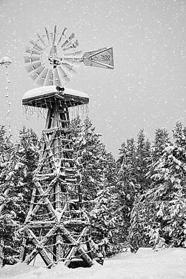 Island Park Idaho - Snow Flakes Falling On My Head Art Print by Image Takers Photography LLC - Carol Haddon and Laura Morgan