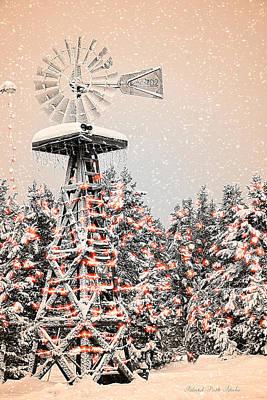Island Park Idaho - Snowflake Windmill Art Print by Image Takers Photography LLC - Carol Haddon and Laura Morgan