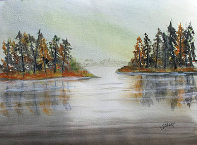 Painting - Island Reflections by Jack G Brauer