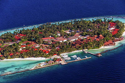 Photograph - Island Resort Kurumba 1  Aerial Journey Around Maldives by Jenny Rainbow