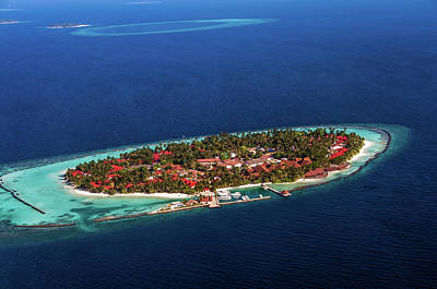 Photograph - Island Resort Kurumba. Aerial Journey Around Maldives by Jenny Rainbow