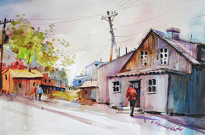 Painting - Island Shipyard by P Anthony Visco