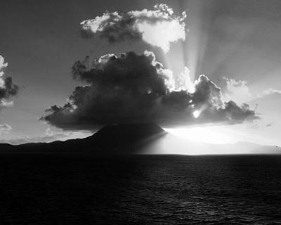 Balck Art Photograph - Island Sunrise 2  by Perry Webster