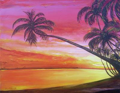 Painting - Island Sunrise by Dawn Harrell