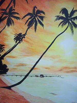 Island Sunset Art Print by Ken Day