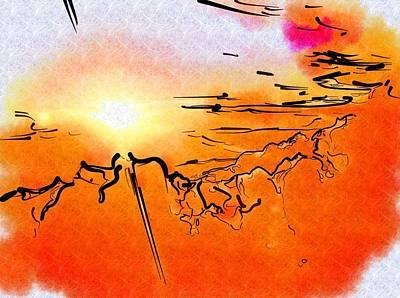 Digital Art - Island Sunset by Mitchell Gibson