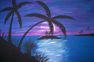Island Sunset Art Print by Paula Ferguson