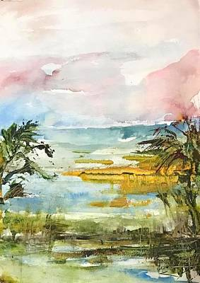 Painting - Island Sunset by Robin Miller-Bookhout