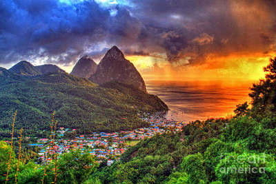 Photograph - Island Sunset Rain by Scott Mahon