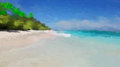 Tropical Scene Mixed Media - Island Time by Anthony Fishburne