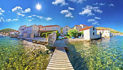 Photograph - Island Town Of Vis Idyllic Waterfront View by Brch Photography