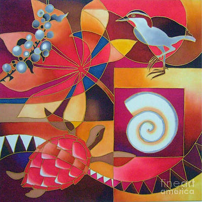 Painting - Island Treasures I by Maria Rova