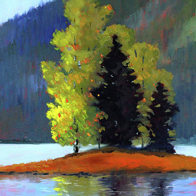 Painting - Island Trees Landscape by Nancy Merkle