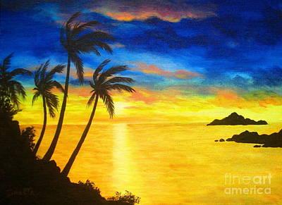 Island  Viewing Art Print by Shasta Eone
