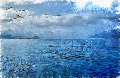 Islands In The Blue Sea Art Print