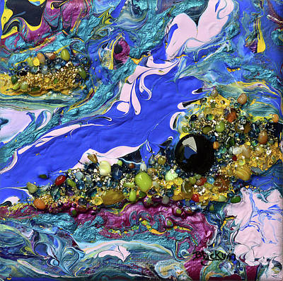 Mixed Media - Islands In The Sea by Donna Blackhall
