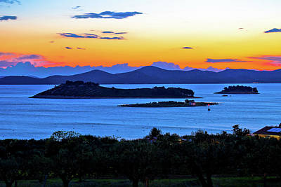 Photograph - Islands Of Pakostane Waterfront Evening View by Brch Photography