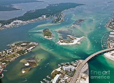 Photograph - Islands Of Perdido - Not Labeled by Gulf Coast Aerials -