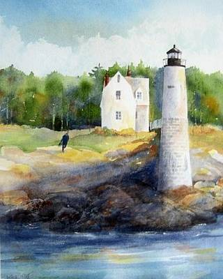Isle Au Haut Light Original by Debra LePage