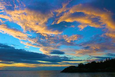 Photograph - Isle Au Haut Sunset by Polly Castor