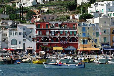 Photograph - Isle Of Capri - Harbor by Harvey Barrison
