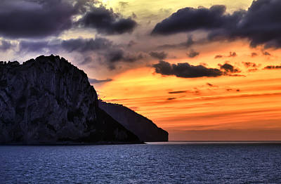 Isle Of Capri Sunset Art Print by Janet Fikar